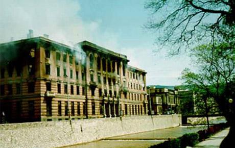 Izgorjela zgrada glavne pošte