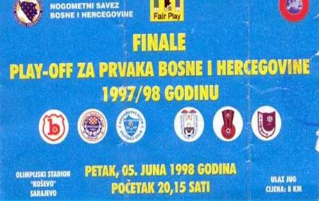 Odigran prvi play-off za prvaka BiH u fudbalu